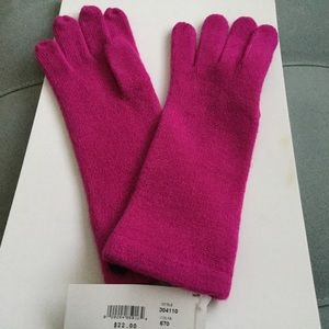 Accessories - Pink knit gloves- size M/L